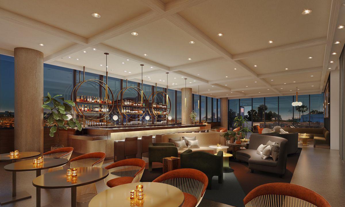 The hotel's lobby bar