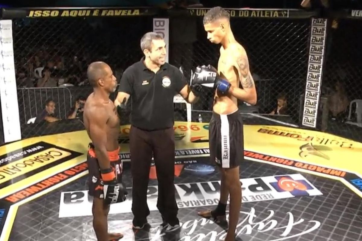 Video: 6'6'' Brazilian featherweight loses debut to 5'4'' opponent at Favela Kombat 31