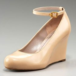 Marc Jacobs Patent Wedge with Removable Strap, $295
