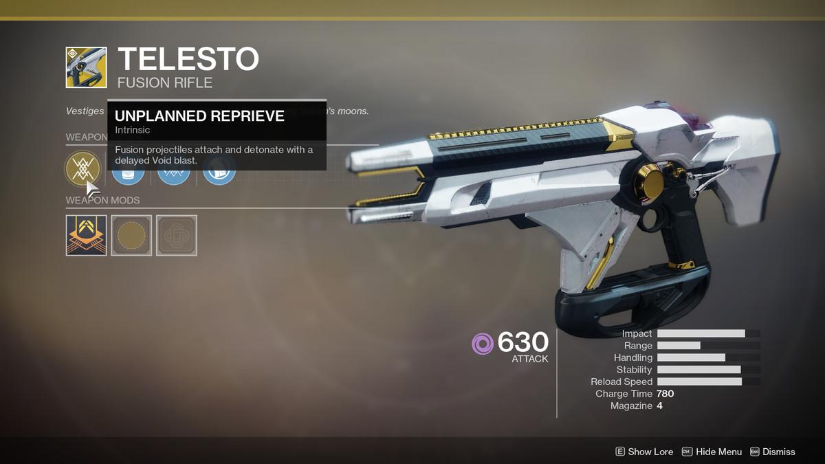 Telesto Exotic Destiny 2