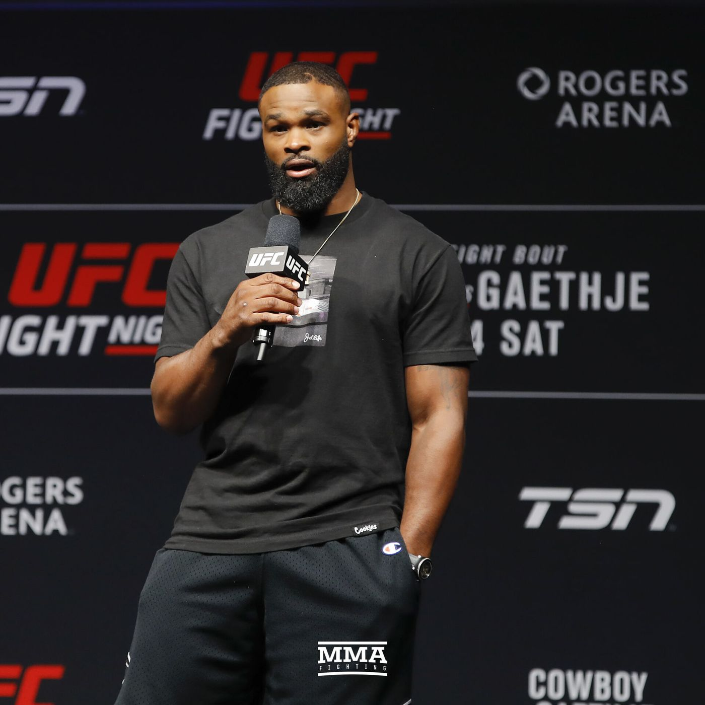 Morning Report Tyron Woodley Responds To Colby Covington He Said No Six Times And Now Creates A Date That Works For Him Mma Fighting