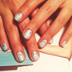 """I am very much not into nail art—and in fact, have proclaimed its death several times—but I'm checking out <b>Paintbox</b>, a new nail studio in Soho, started by former beauty editor <b>Eleonar Langston</b>. It's """"sophisticated"""" nail art. I pick this wate"""