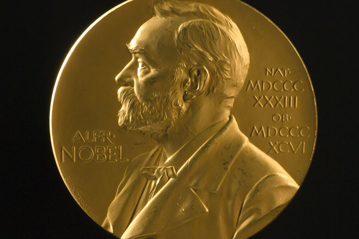 This Nobel Prize medal for Physics went to Joseph John Thomson 1906 for work on how gases conduct electricity.
