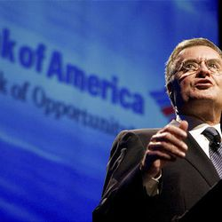 """Bank of America Chief Executive Officer Kenneth Lewis speaks in a segment of """"Frontline: Breaking the Bank."""""""