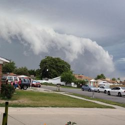These photos capture a storm rolling across the Wasatch Front, Friday, August 7, 2015.