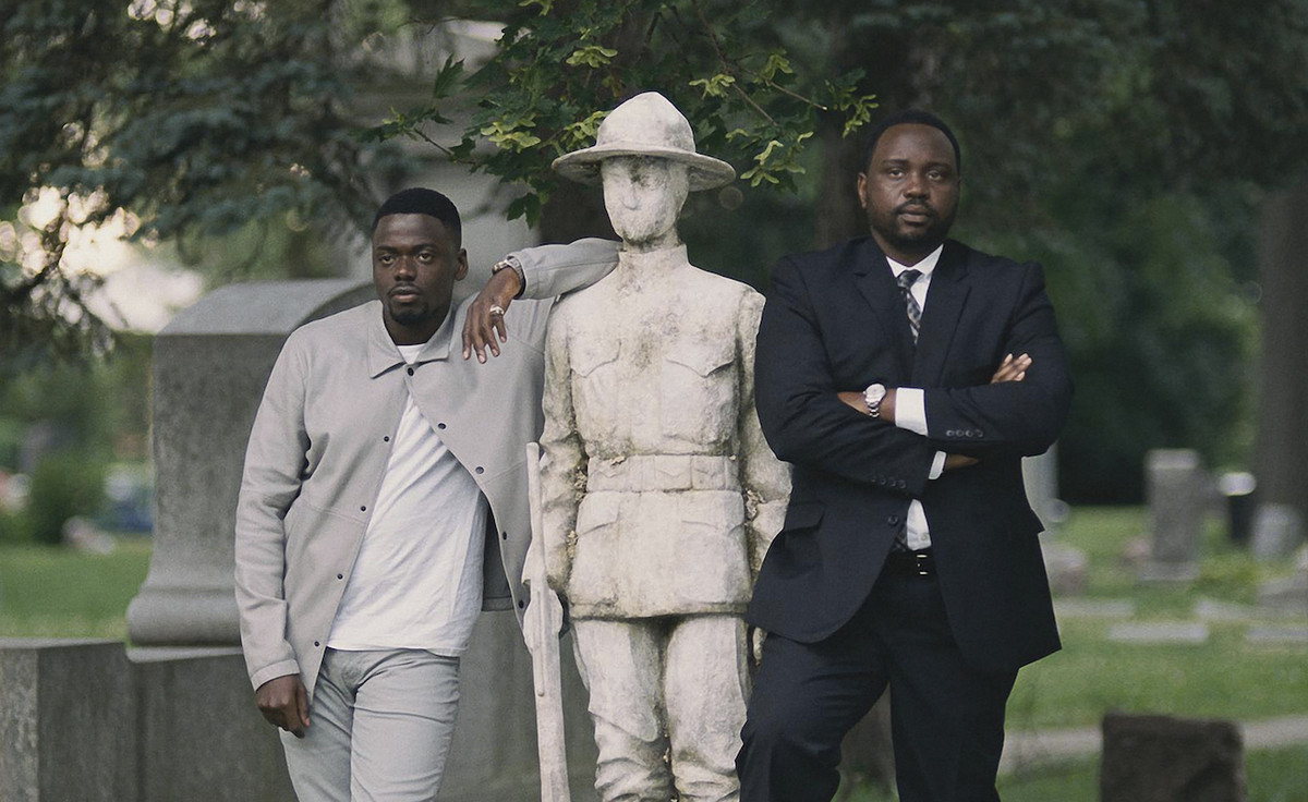 """Brian Tyree Henry (right, seen here with Daniel Kaluuya) plays crime kingpin-turned-politician in """"Widows."""" 