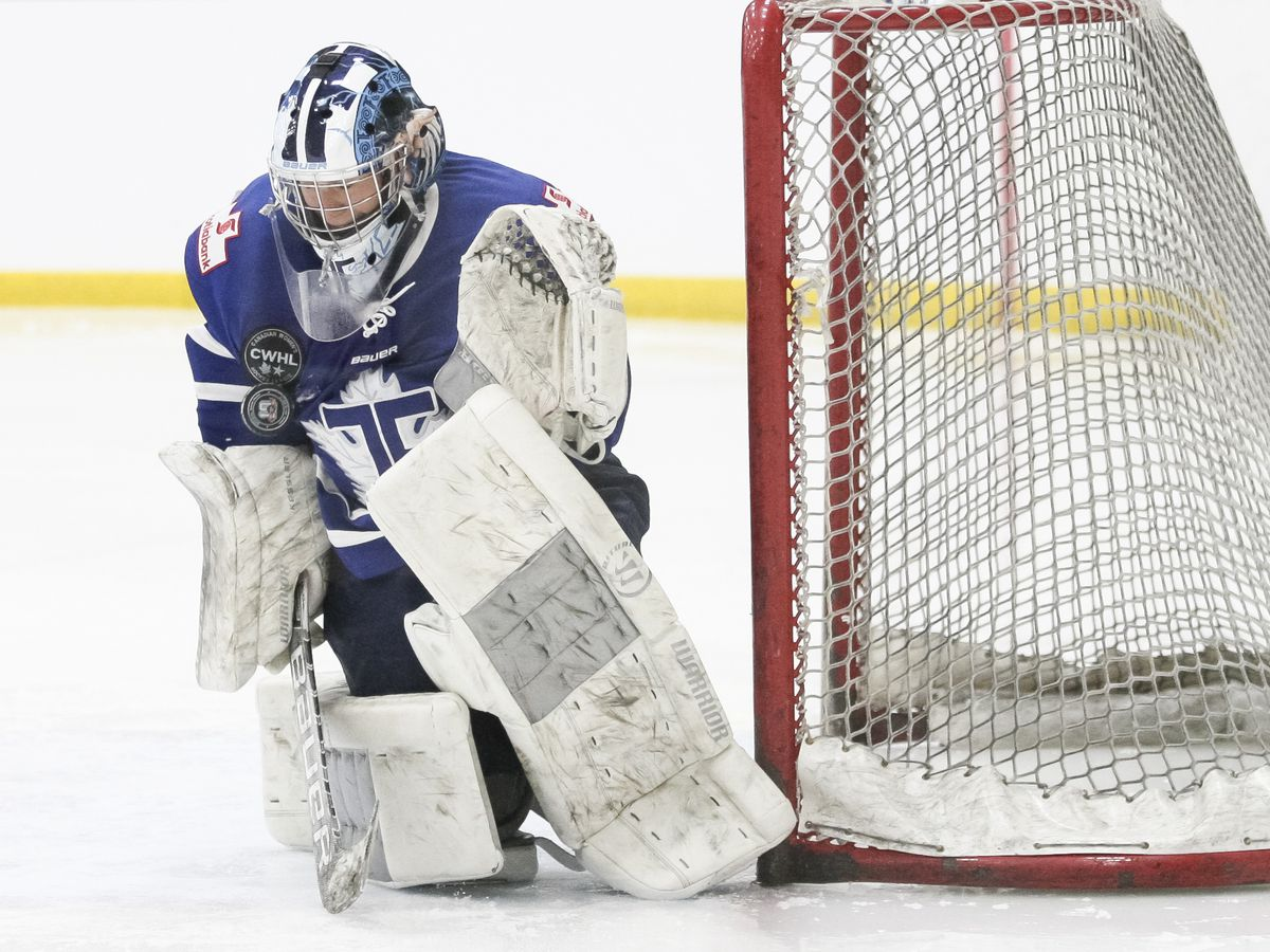 Christina Kessler making one of 30 saves on the afternoon