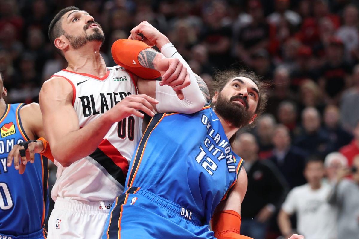 Enes Kanter Bruises Wrist in Blazers-Thunder Game 2