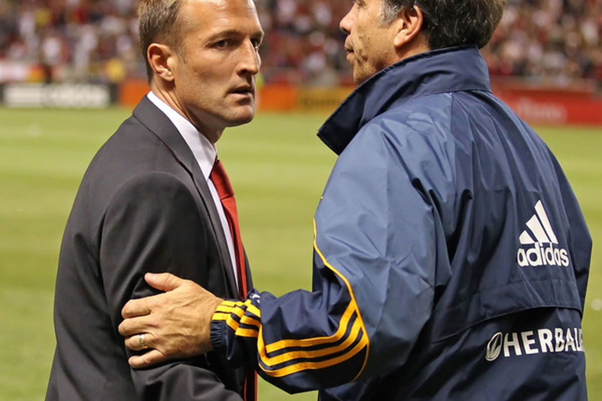 If SB Nation's soccer editors are correct, Real Salt Lake and the LA Galaxy will be the cream of the MLS crop this year. (Photo by George Frey/Getty Images)