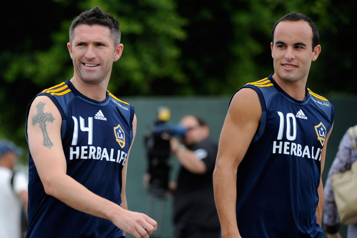 Double trouble: Keane and Donovan are the Galaxy's focal points.