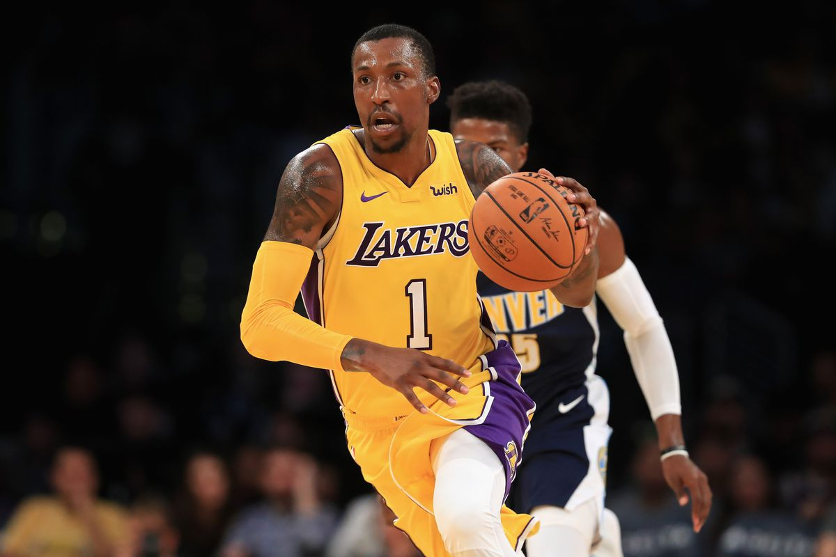 Lakers' Kentavious Caldwell-Pope playing basketball while serving jail sentence