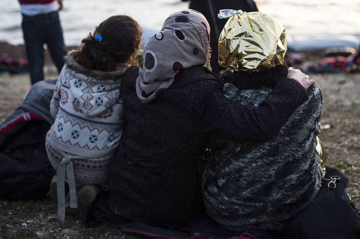 Greek Island Of Lesbos On The Frontline Of the Migrant Crisis