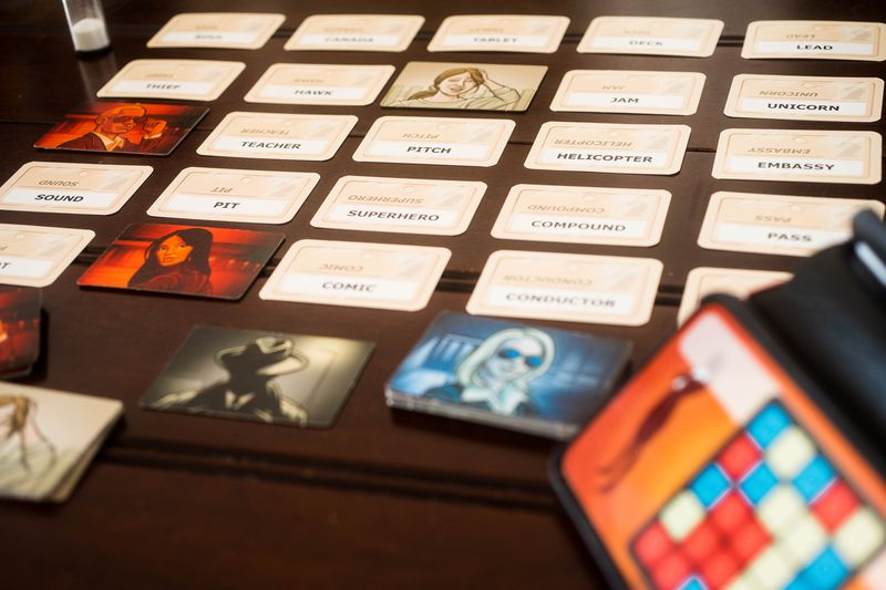 A photo of Codenames.
