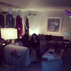 Last call! Partygoers enjoy one last moment inside Suite 100 before the end of the bash.