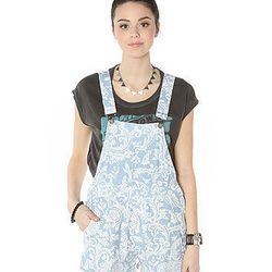 """<b>Motel</b> the demi dunagree overalls in paisley blue, $90 at <a href=""""http://www.karmaloop.com/product/The-Demi-Dungaree-Overalls-in-Paisley-Blue/345868"""">Karma Loop</a>"""