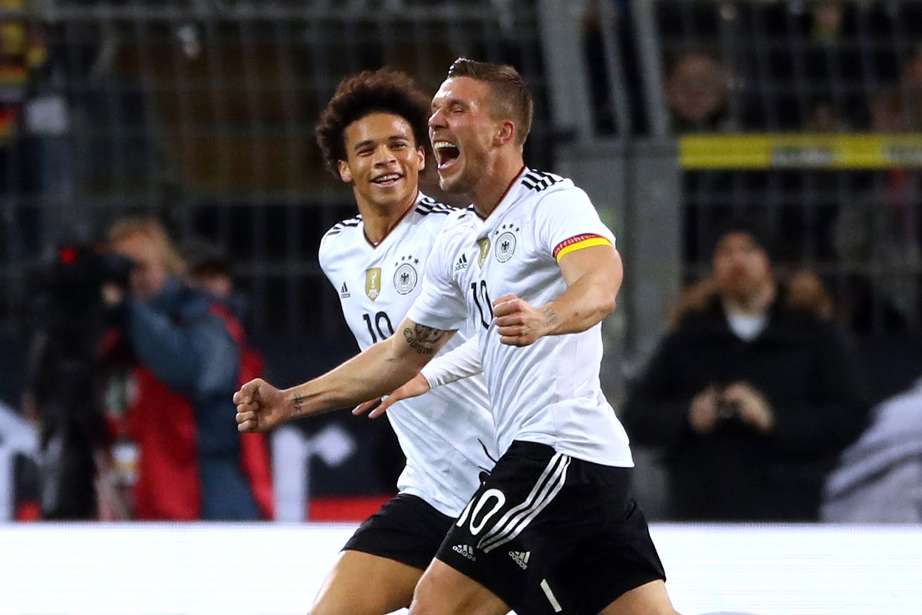 Lukas Podolski: Leroy Sane has not yet ?reached the top level?