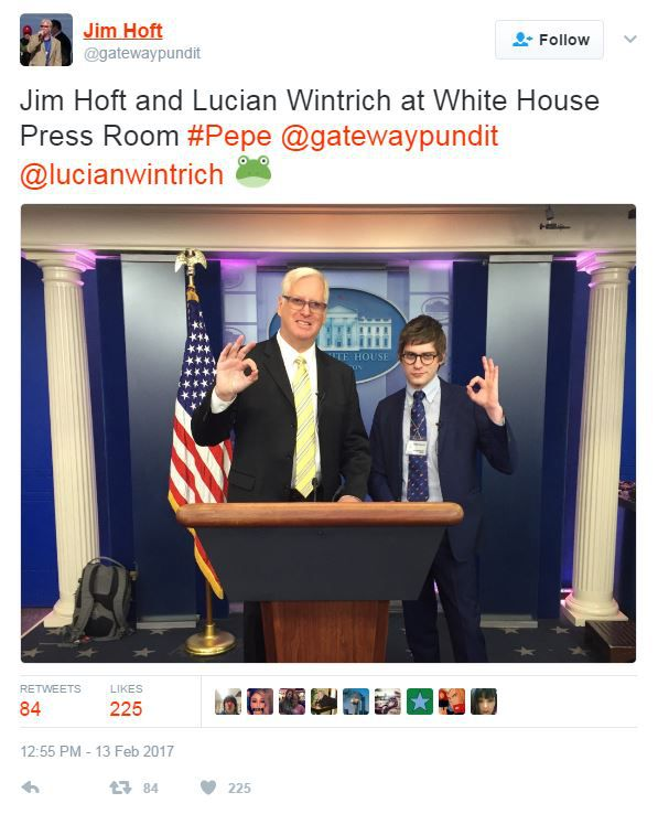 Gateway Pundit in White House press room