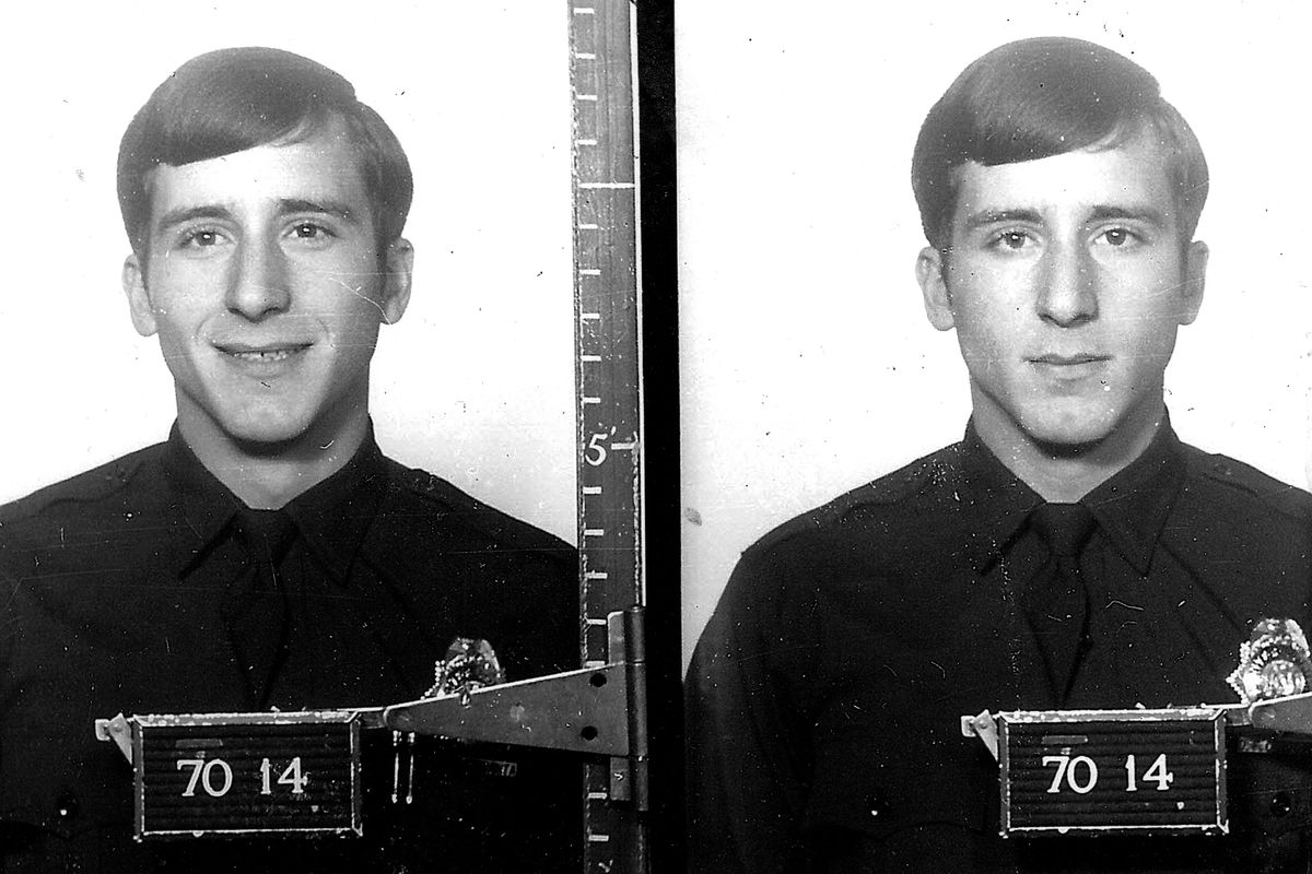A young Daril Cinquanta photographed during his time at the Denver Police Academy in 1970.