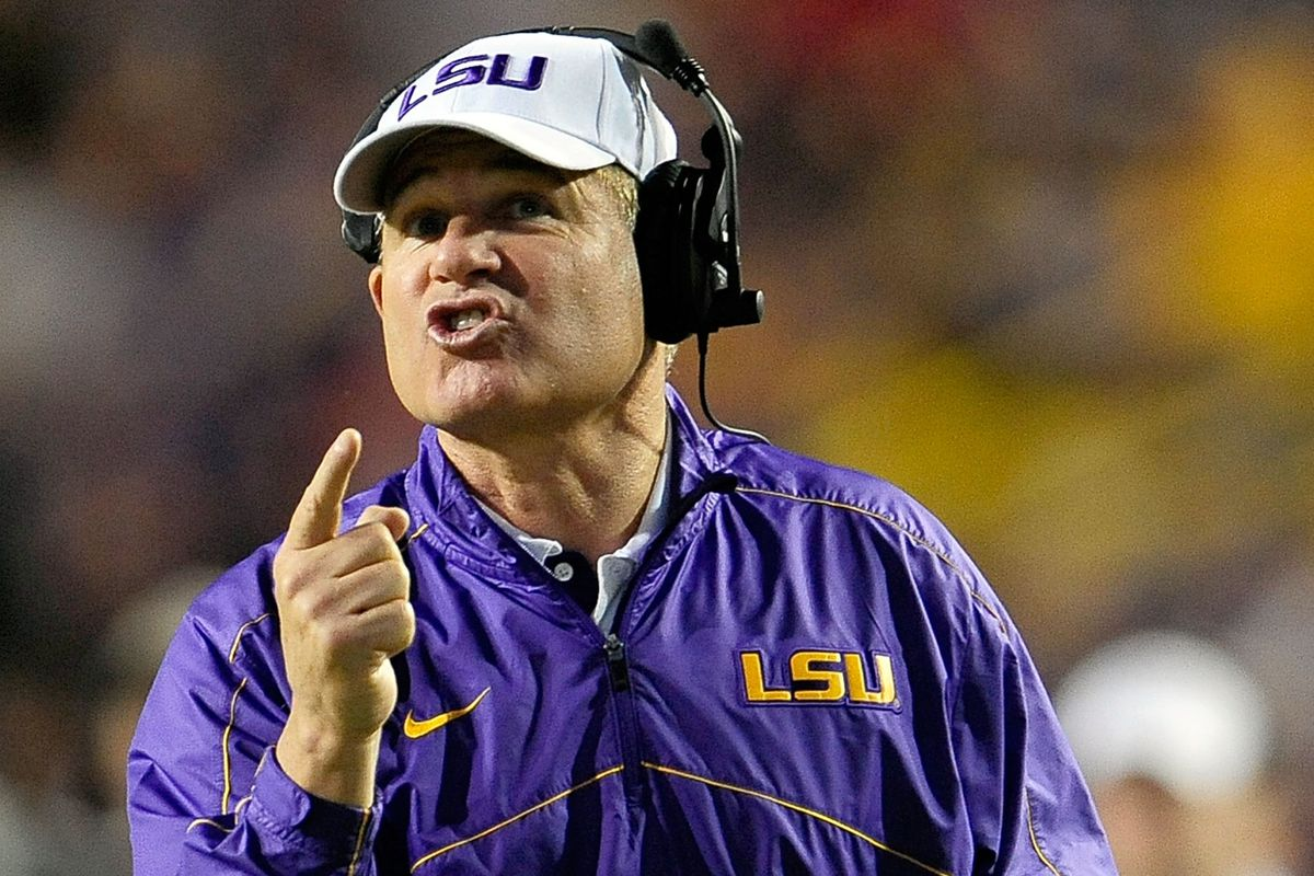 Can Les Miles top last week's post-game press conference?  Unlikely...