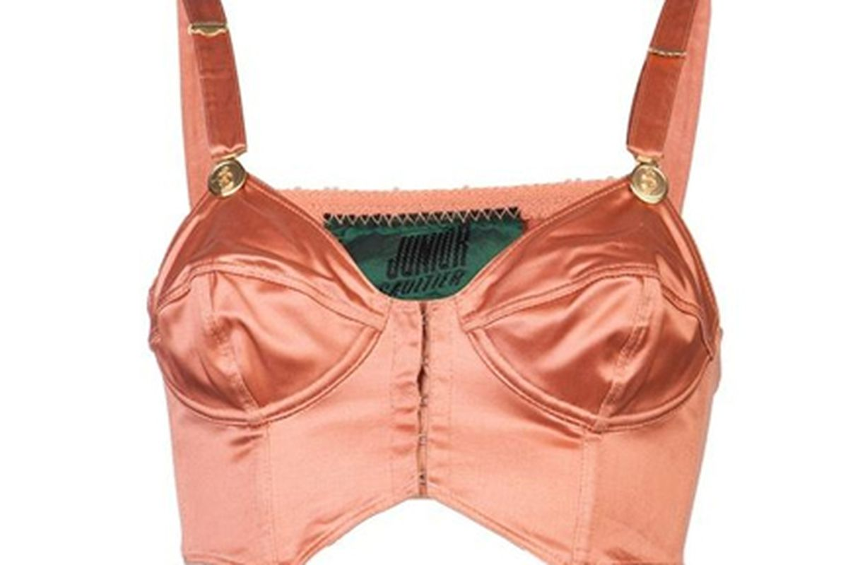 "Image via <a href=""http://www.farfetch.com/shopping/women/jean-paul-gaultier-vintage-cropped-bustier-item-10405610.aspx?storeid=9437"">Amarcord</a>"
