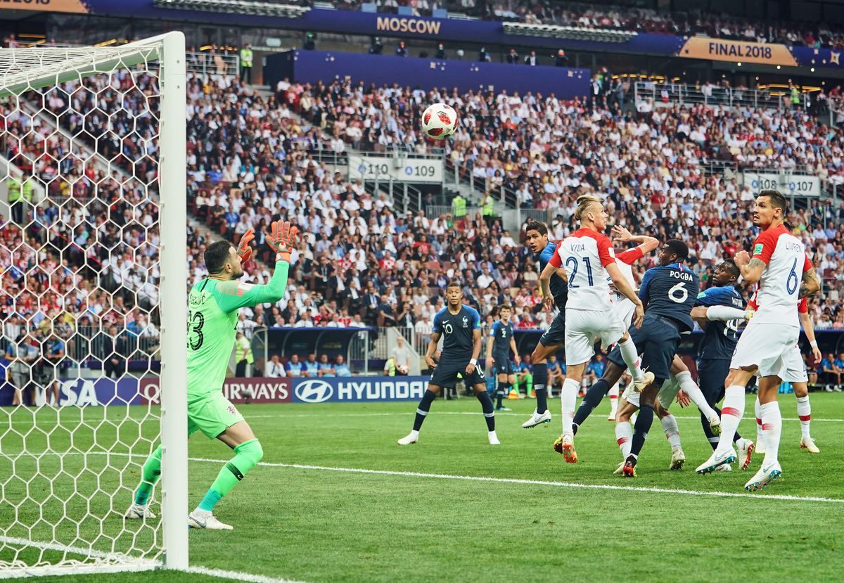 FIFA World Cup - France against Croatia in the final