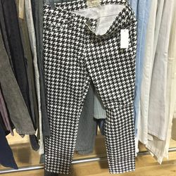 Current/Elliot houndstooth jeans, $41