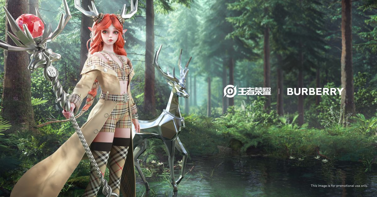 Burberry designed character skins for China's biggest video game