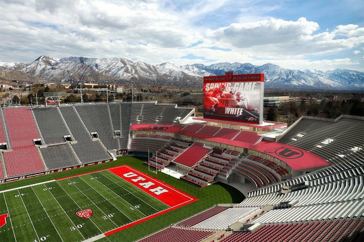 Utah Athletics Unveils Plans For Expanded Rice Eccles Stadium Block U