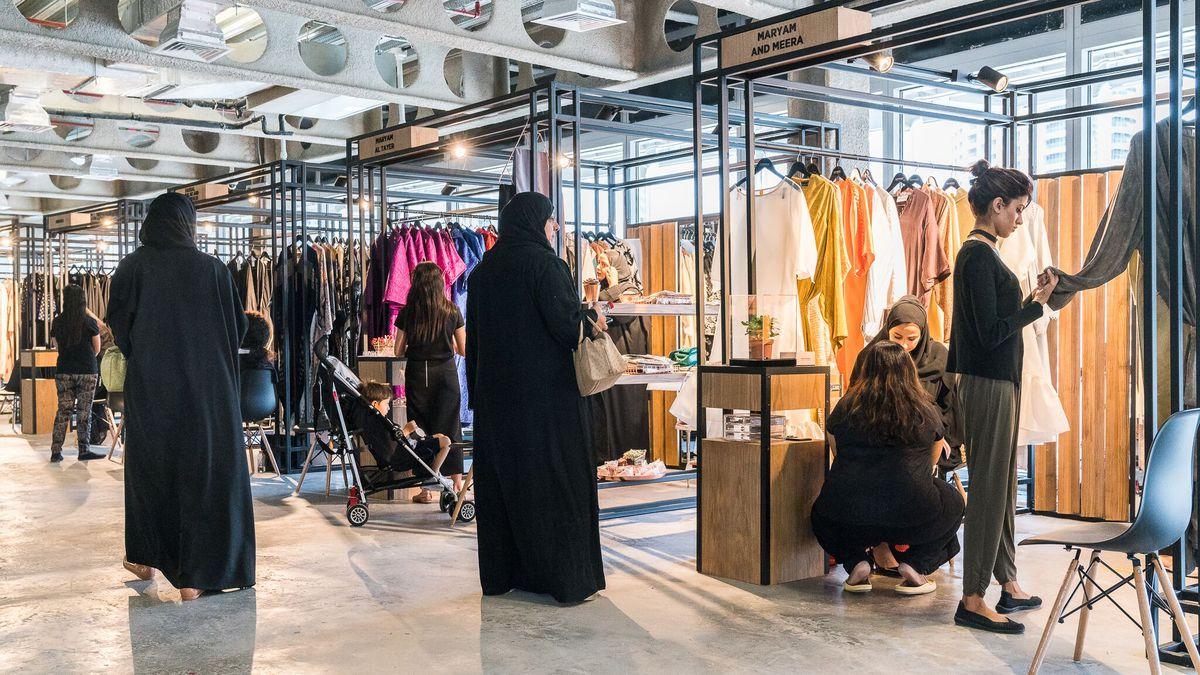 Women shop for Ramadan at upscale Dubai boutique Symphony