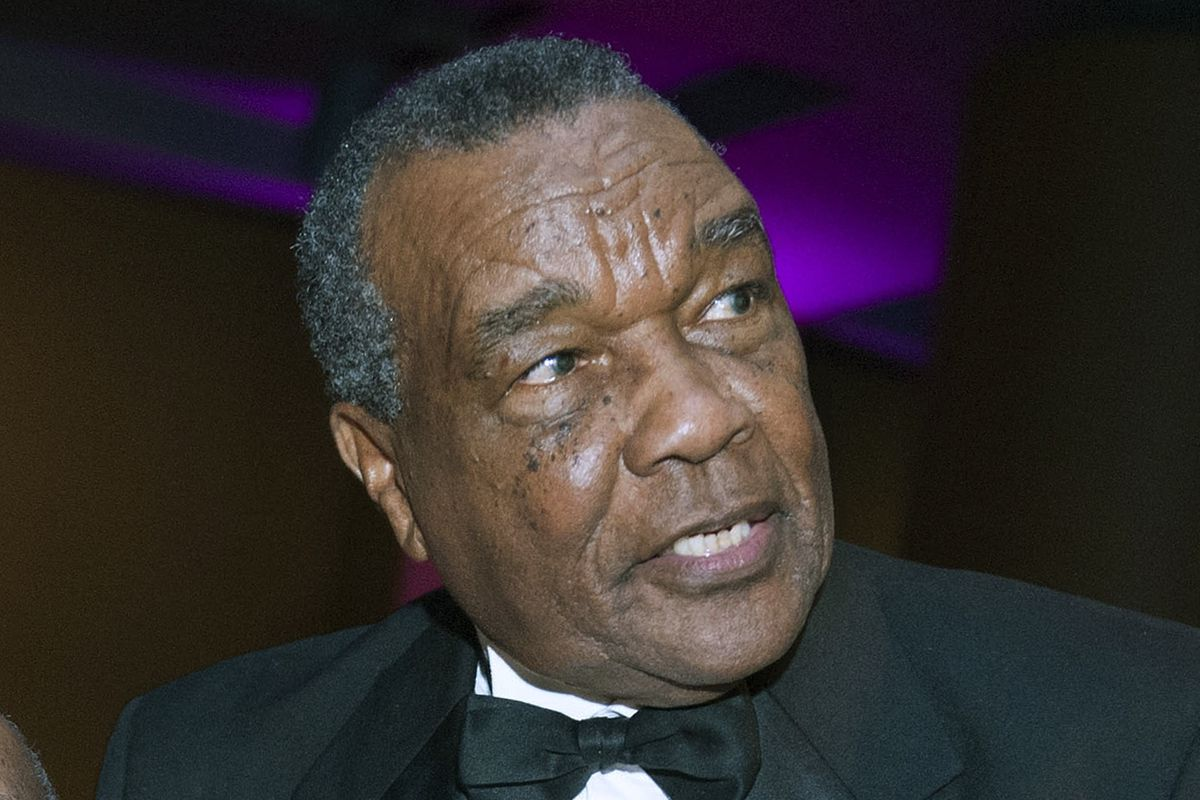 Curator Dr. David Driskell takes part in the 50th Anniversary Gala of the Smithsonian's National Museum of African Art in Washington in 2014.
