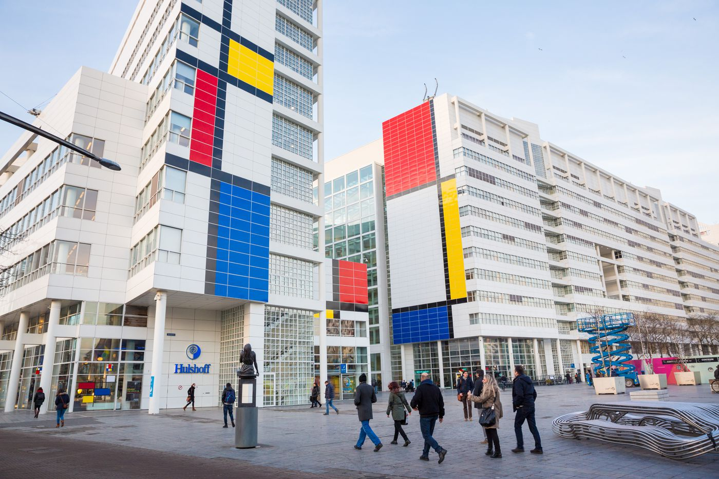 Dutch city hall turned into big Mondrian painting