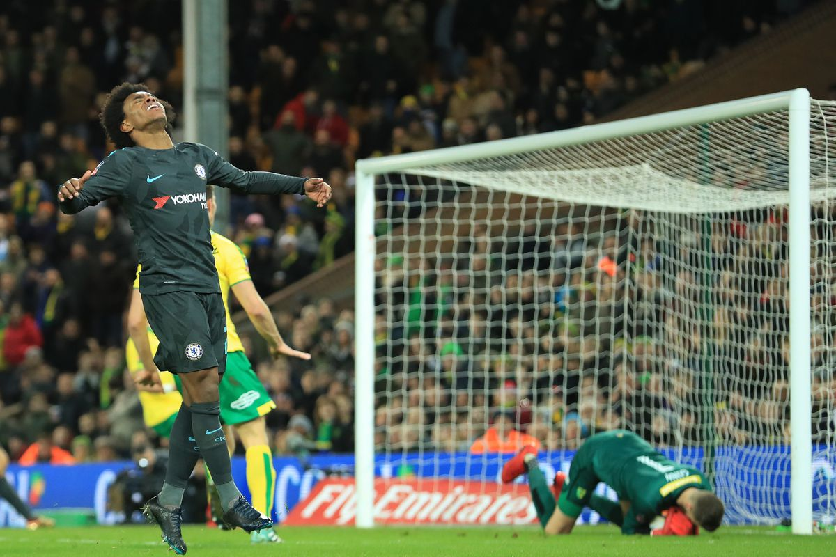 2018 FA Cup Football 3rd Round Norwich City v Chelsea Jan 6th