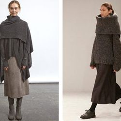 """<a href=""""http://racked.com/archives/2014/02/12/steven-alan-fall-2014.php"""">Steven Alan</a> Fall '14 and <a href=""""http://racked.com/archives/2014/02/11/olsens-will-have-you-swimming-in-your-clothing.php"""">The Row</a> Fall '14 via Racked"""