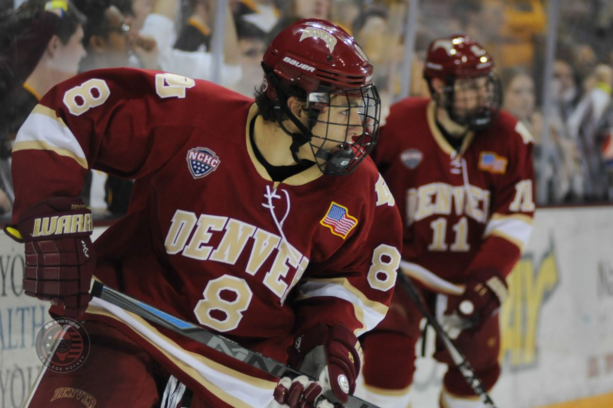 Denver's Trevor Moore was the leading scorer in NCHC conference play