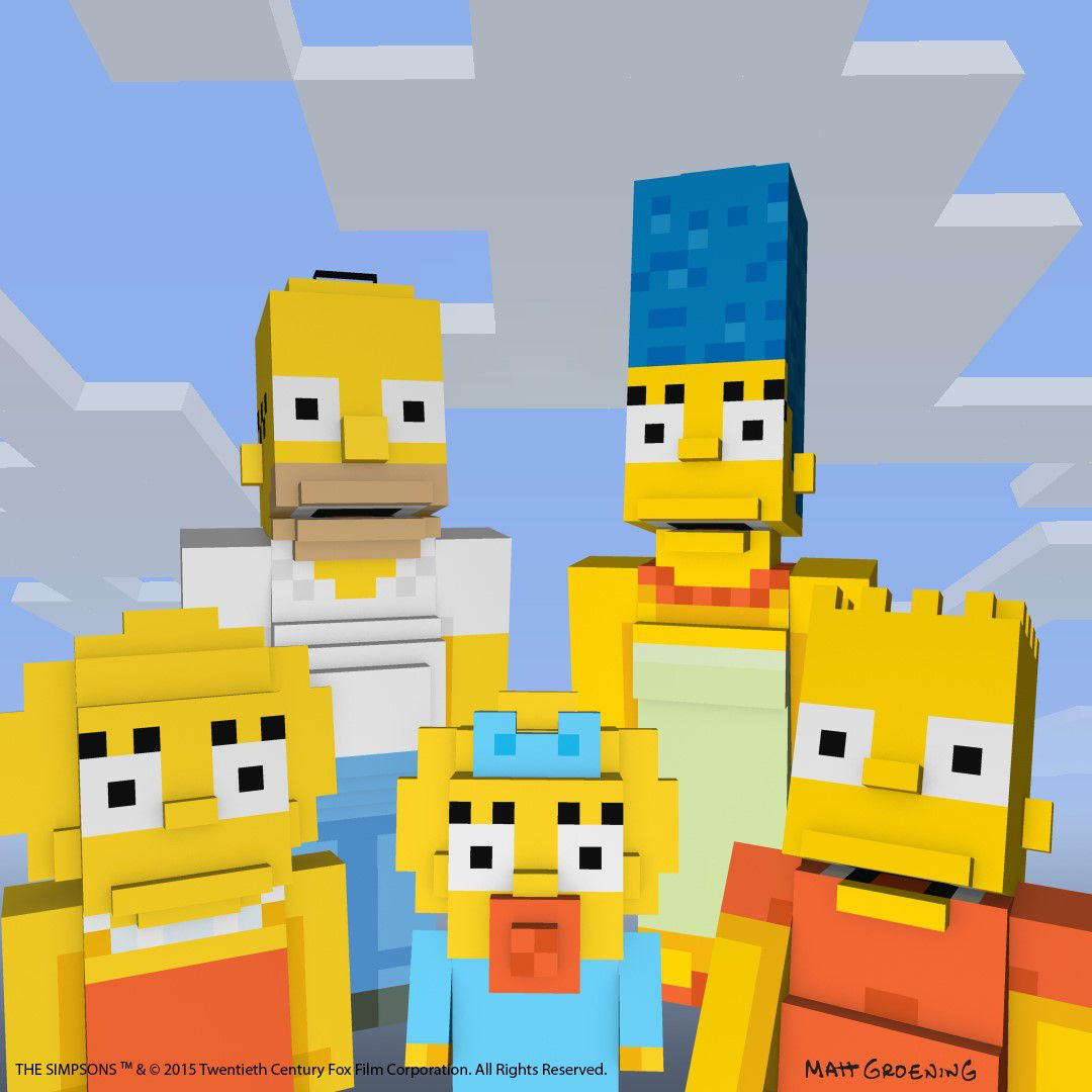 The Simpsons in Minecraft