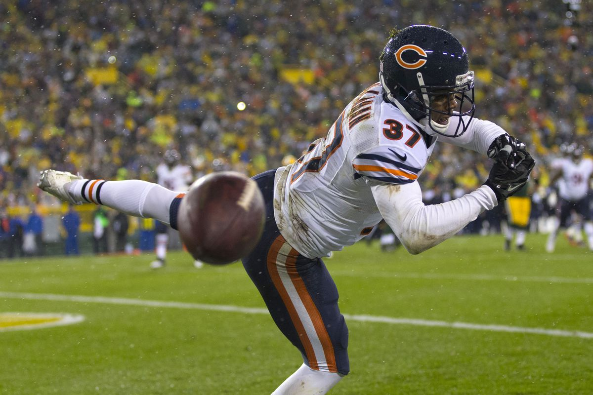 A scene all too familiar - another pick slips through the hands of a Bears defender