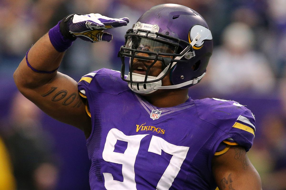 Pictured: Not Mike Tanier. . .but he does like Everson Griffen.