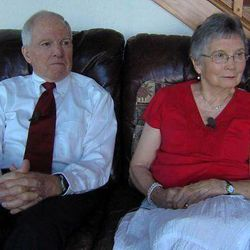 Roy and Kathleen Sneddon sit in their Providence home on Aug. 5, 2012, talking about the disappearance of their son, David, eight years ago in China.