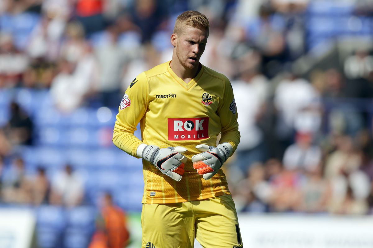 Naughty boy: Ben Amos saw red and conceded a penalty against Nottingham Forest