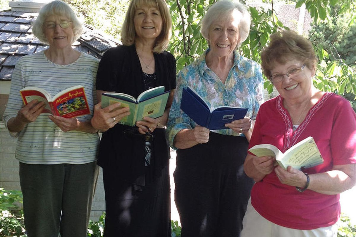Jon Taylor, left, Marcia Moon, Joan Varner and Marilyn Wright are longtime members of the Literary Adventurers.