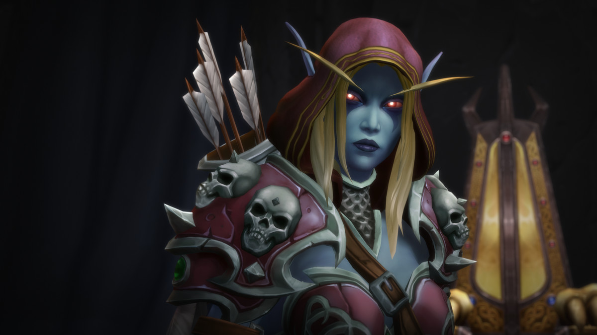 Sylvanas Windrunner stands in Lordaeron.