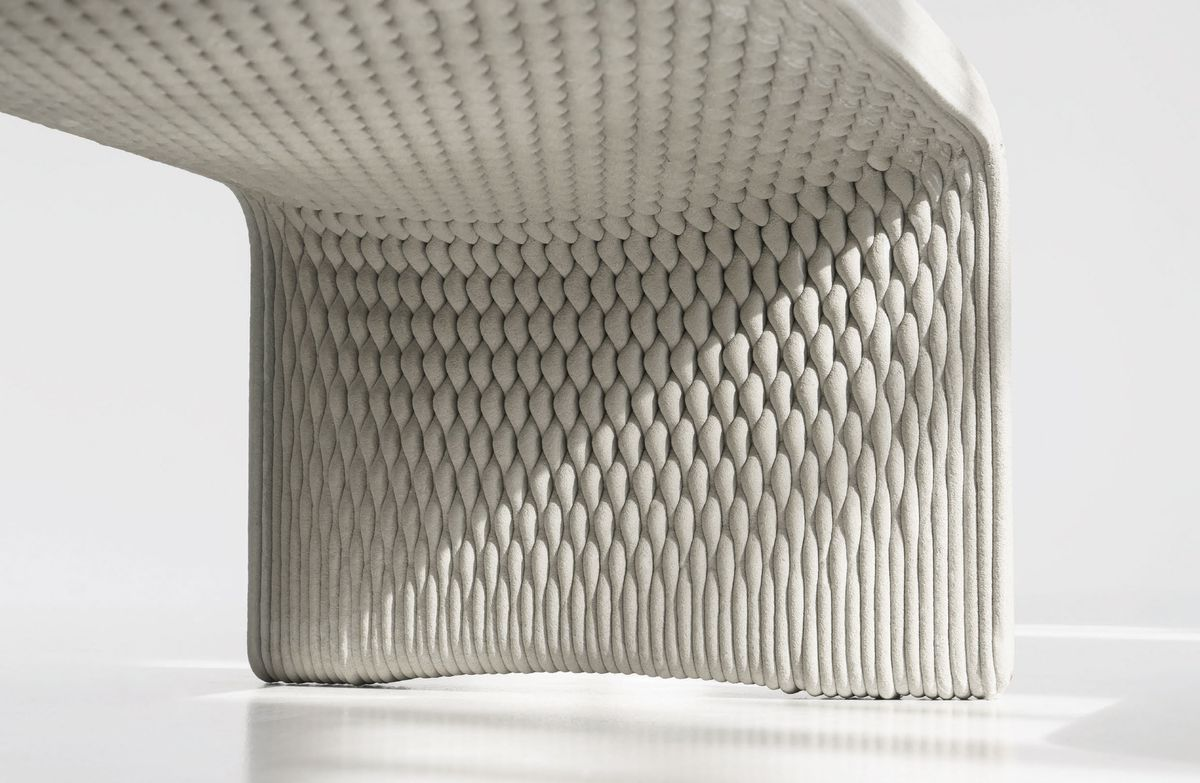 3d Printed Concrete Benches Look Woven Curbed
