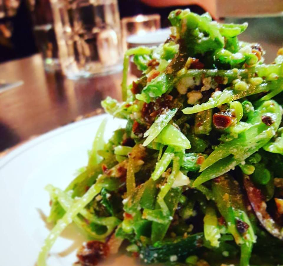 Sugar snap pea salad at Branch Line