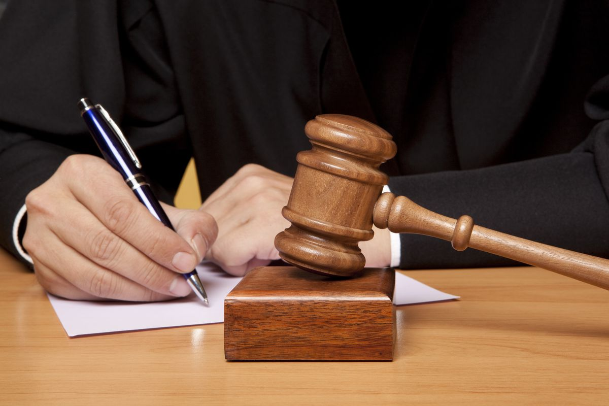 judge with gavel and order