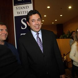 Rep. Jason Chaffetz, R-Utah,  talks with supporters at the Hilton  in Salt Lake City  Tuesday, Nov. 6, 2012.