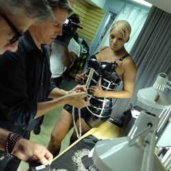 NeNe Leakes gets fitted for her costume in Zumanity. Photo: TOMO