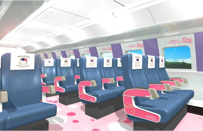 Renderings of Hello Kitty seats