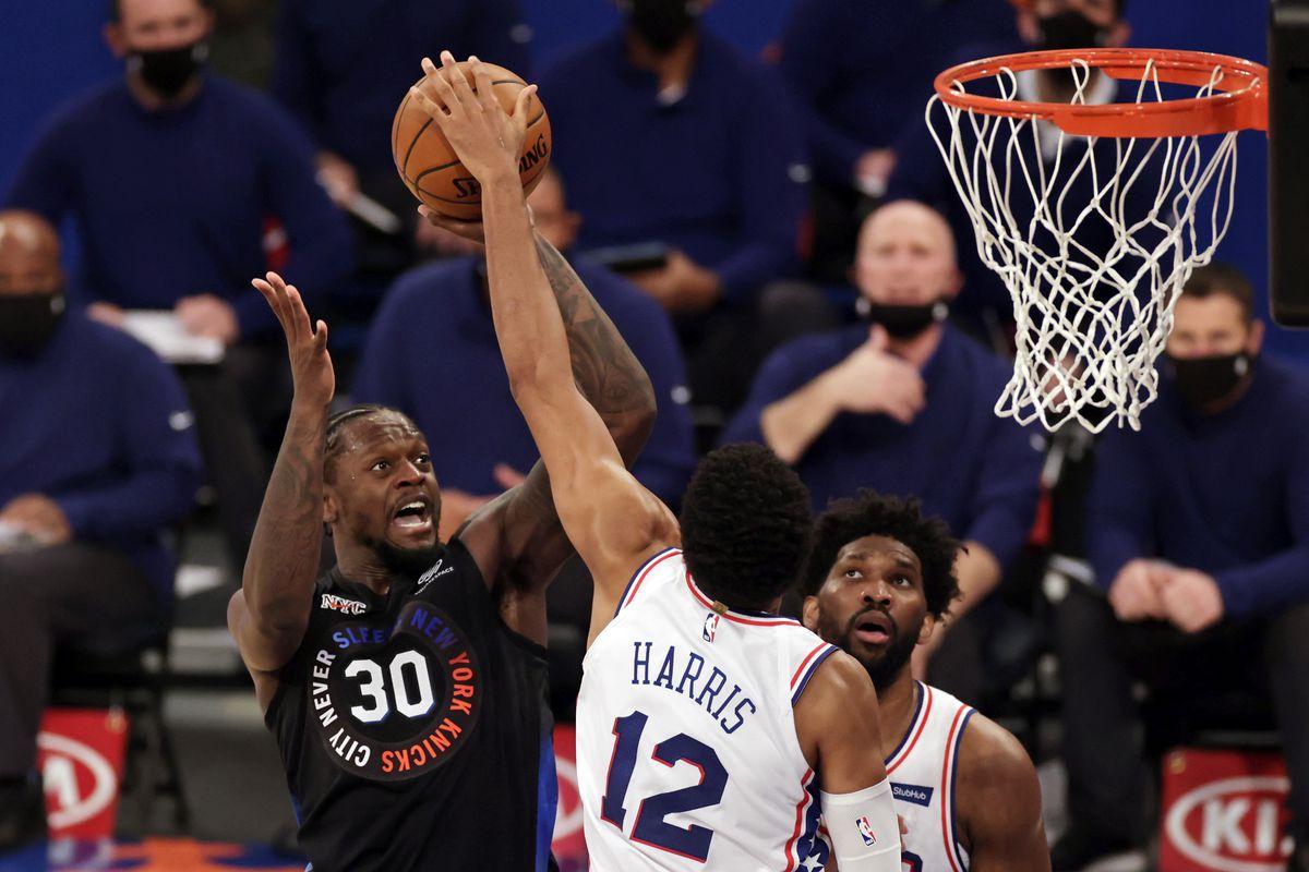 NBA: Philadelphia 76ers at New York Knicks