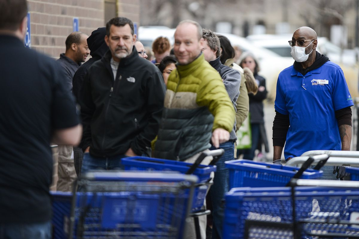 Long Lines Form For Goods As Denver Mayor Calls For Residents To Shelter In Place