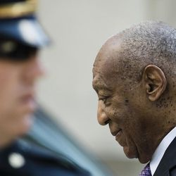 Bill Cosby walks from the Montgomery County Courthouse during his sexual assault trial in Norristown, Pa., Friday, June 9, 2017.